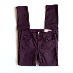 Rag & Bone Wine Skinny Jeans